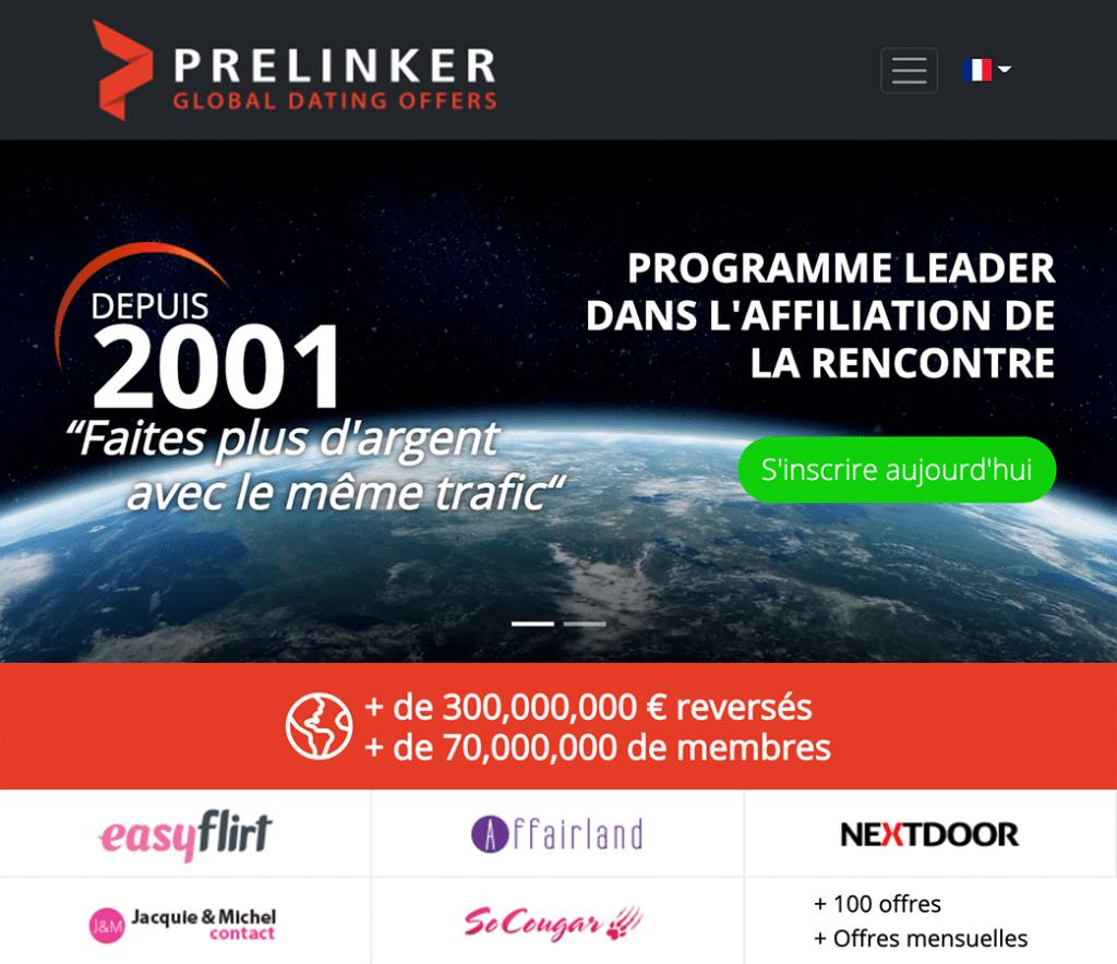 Prelinker : plateforme d'affiliation rencontre